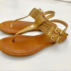 MIA Summer Sandals Gold Details  Size 7